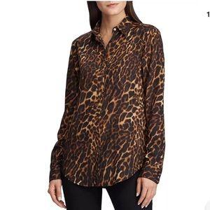 Lauren Ralph Lauren  Animal Print Long Sleeve Top